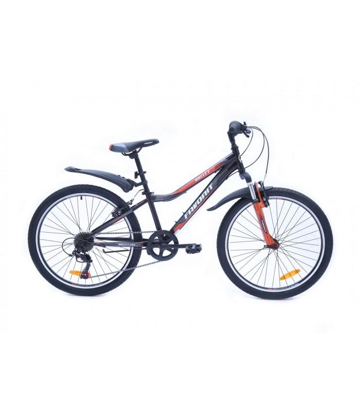 Велосипед Favorit Bullet 24 V (черный/оранжевый, 2019)