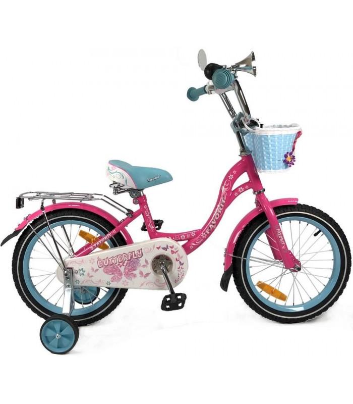 Велосипед Favorit Butterfly 14 (розовый/бирюзовый, 2019)
