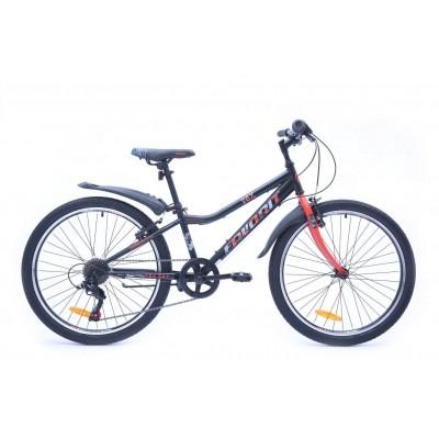 Велосипед Favorit Fox 24 V (черный/красный, 2019)