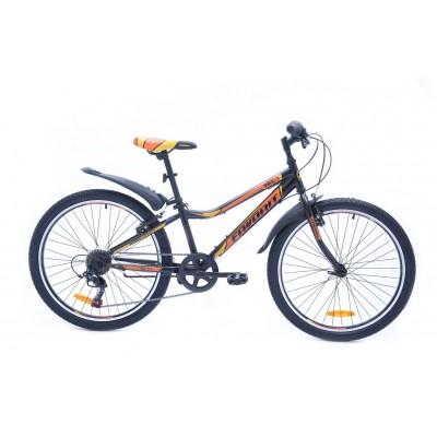 Велосипед Favorit Fox 24 V (черный/оранжевый, 2019)