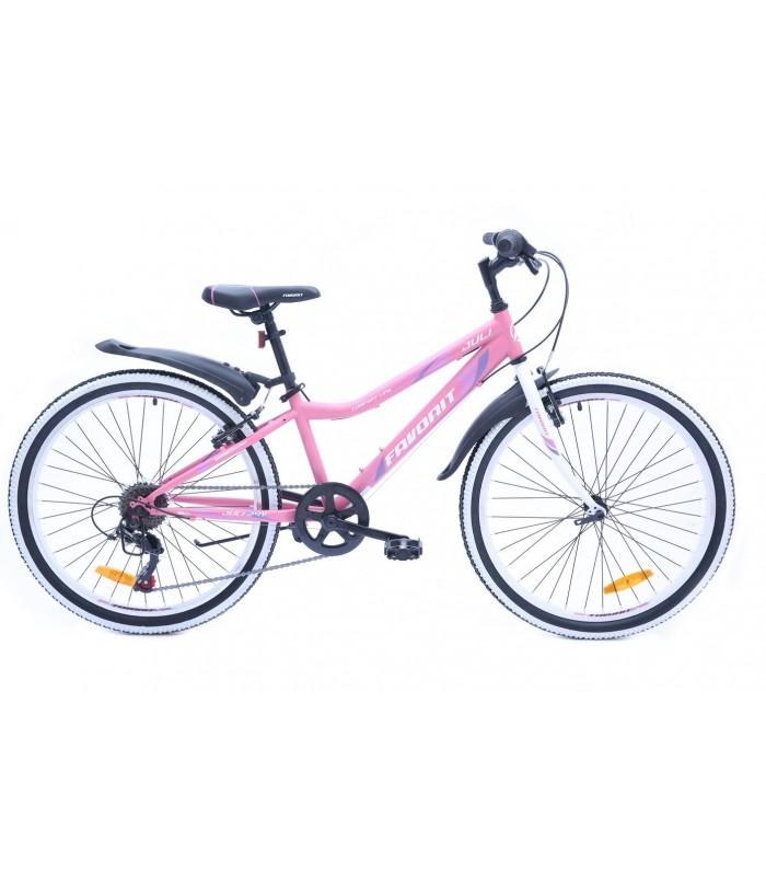 Велосипед Favorit Juli 24 V (розовый, 2019)