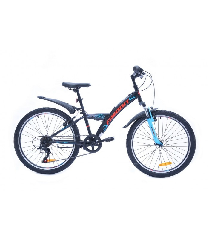 Велосипед Favorit Meteor 24 V (черный/голубой, 2019)