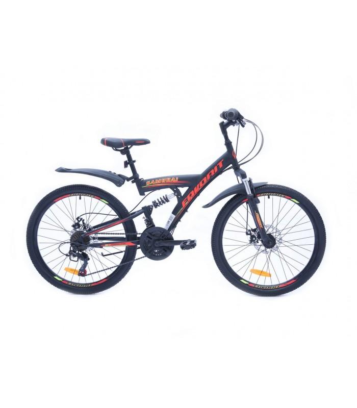 Велосипед Favorit Samurai 24 D (черный/красный, 2019)