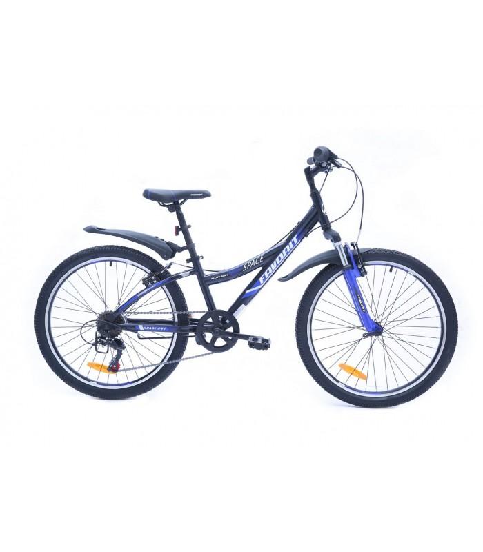 Велосипед Favorit Space 24 V (черный/синий, 2019)