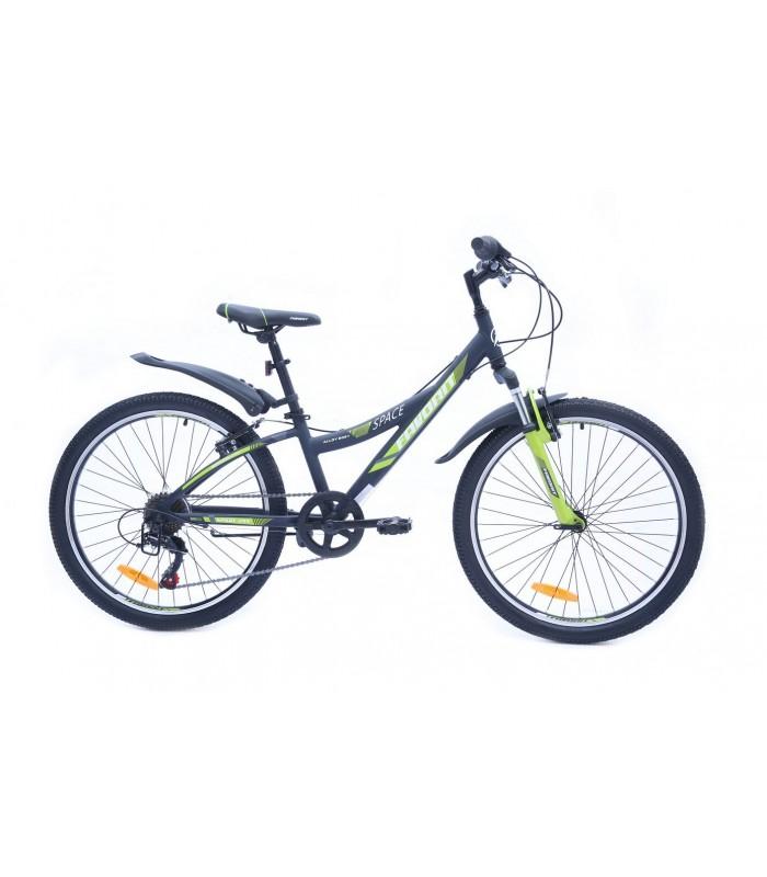 Велосипед Favorit Space 24 V (черный/зеленый, 2019)