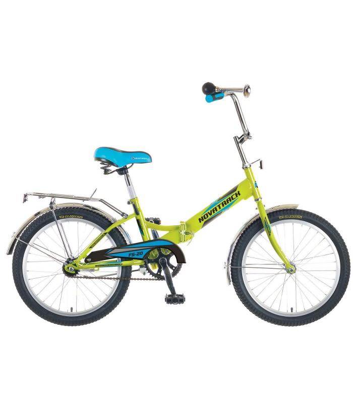 Велосипед Novatrack FS20 20 (салатовый, 2019)