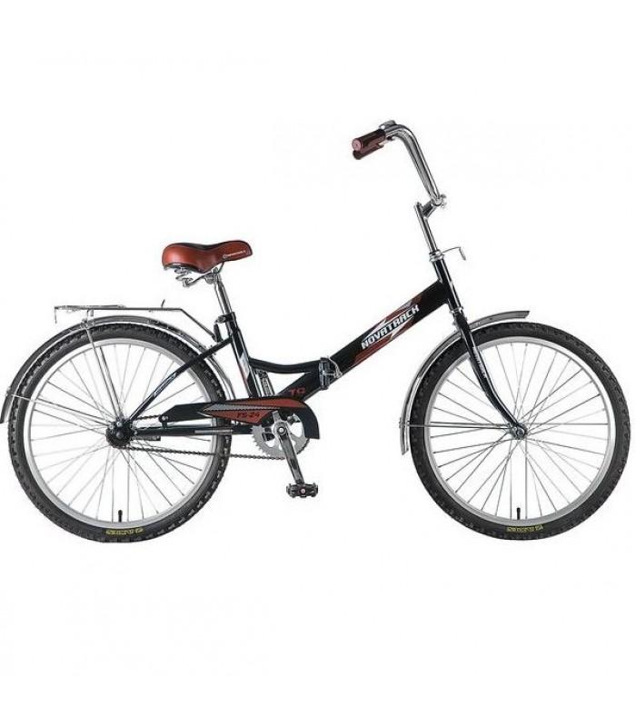 Велосипед Novatrack FS24 24 (черный, 2017)