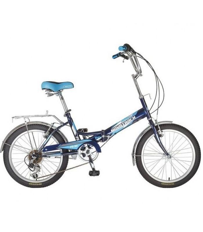 Велосипед Novatrack FS30 20 (синий, 2019)