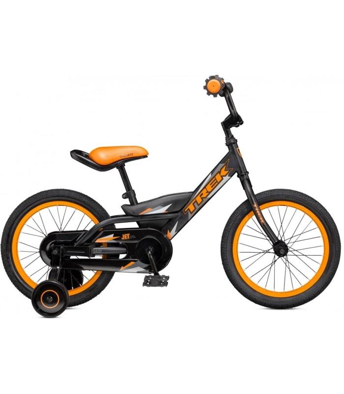Велосипед Trek Jet 16 (черно-оранжевый)